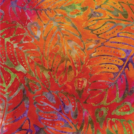 6625-98 - Benartex Batik Forest Leaf - Bright Multi