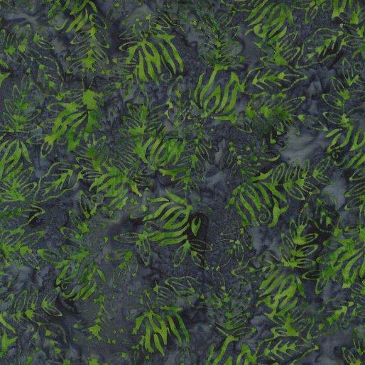 6981-54 - Benartex Batik Vine - Navy/Green