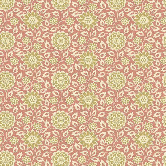 A-8994-EN - Andover The Seamstress Stylized Flower - Antique Rose