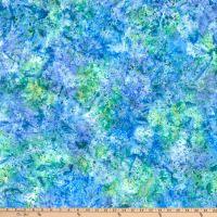 5643-447 - Wilmington Batiks - Coconut Sticks - Blue/Green