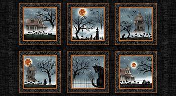 5241-99 Studio E Harvest Moon  - Black