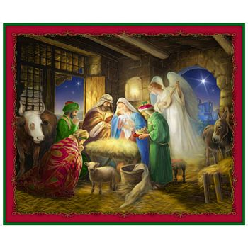 27811-X Quilting Treasures Born is the King Nativity Panel