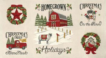 19940 11 Moda Homegrown Holidays Panel - Winter White