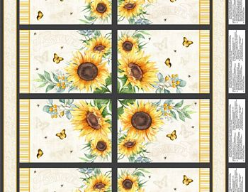 33486-915 Wilmington Sundance Meadow Placemat Panel - 4 per panel