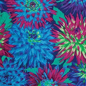 PWPJ054.BLUE Cactus Dahlia - Blue