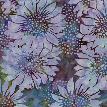 111516017 Island Batik, Sunflower - Lt Purple