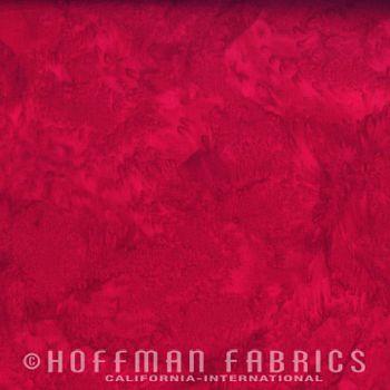1895-292 Hoffman Bali Watercolors - Cardinal