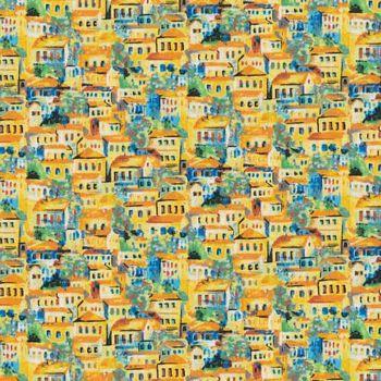 120-99031 Fabri-Quilt Portofino - Small Buildings - Yellow