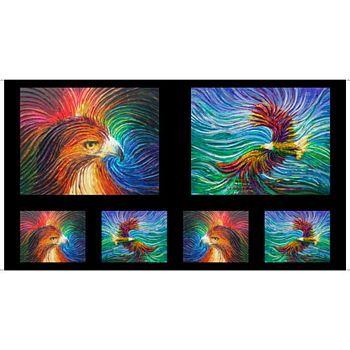 26753-X Quilting Treasures Artworks IX Eagle & Wave Ombre