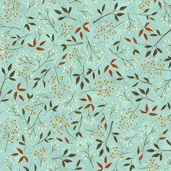 26883-B Quilting Treasures Reading Together Leaf Vine - Light Blue