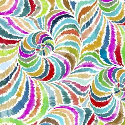 27394-X Quilting Treasures In the Groove - Swirl - Multi