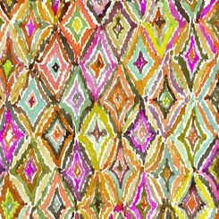 27395-O Quilting Treasures In the Groove - Ikats - Orange