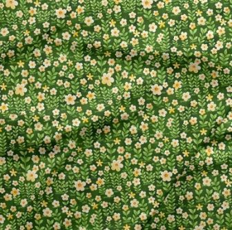 120-19621 Fabri-Quilt Forest Fables Flowers - Green