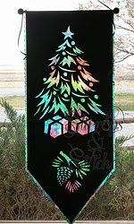 Night Before Christmas Laser Cut Fused Applique Silhouette