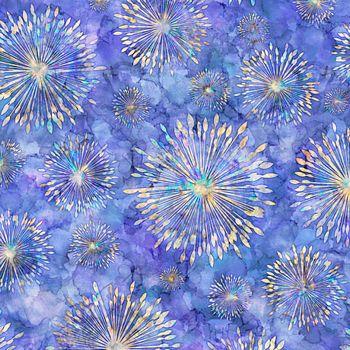 27412-V Quilting Treasures Botanica Sunburst - Iris