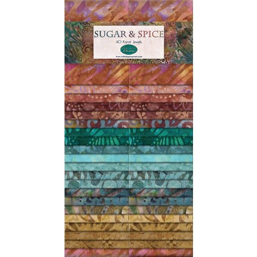 841-90-841 - Wilmington Batiks Sugar & Spice 40 Karat Crystals - 2 1/2 strips
