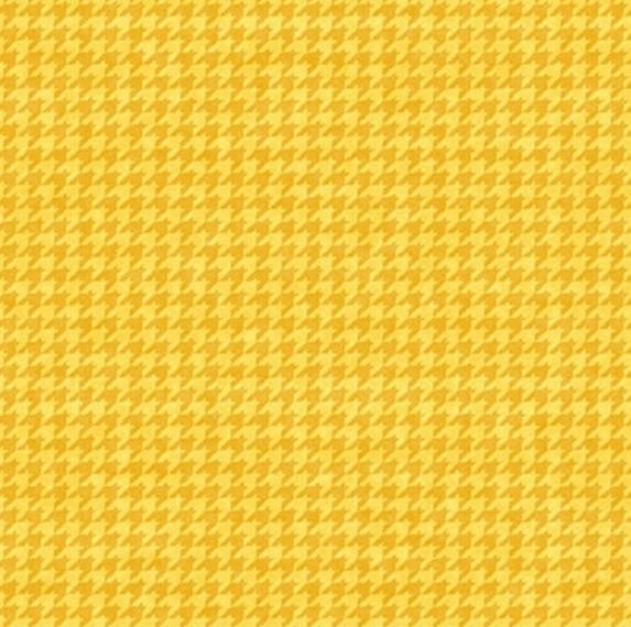 8624-34 Henry Glass Houndstooth Basics - Yellow Gold