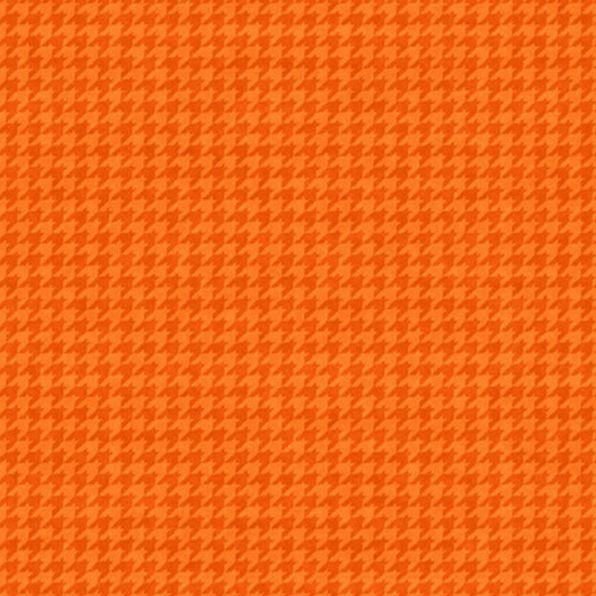 8624-36 Henry Glass Houndstooth Basics - Tangerine