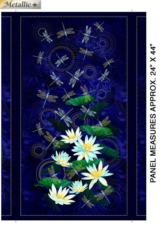 9750M-55 - Kanvas Moonlight Serenade Panel - Indigo