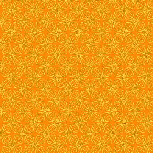 9806-28 Kanvas Geo Bloom - Orange