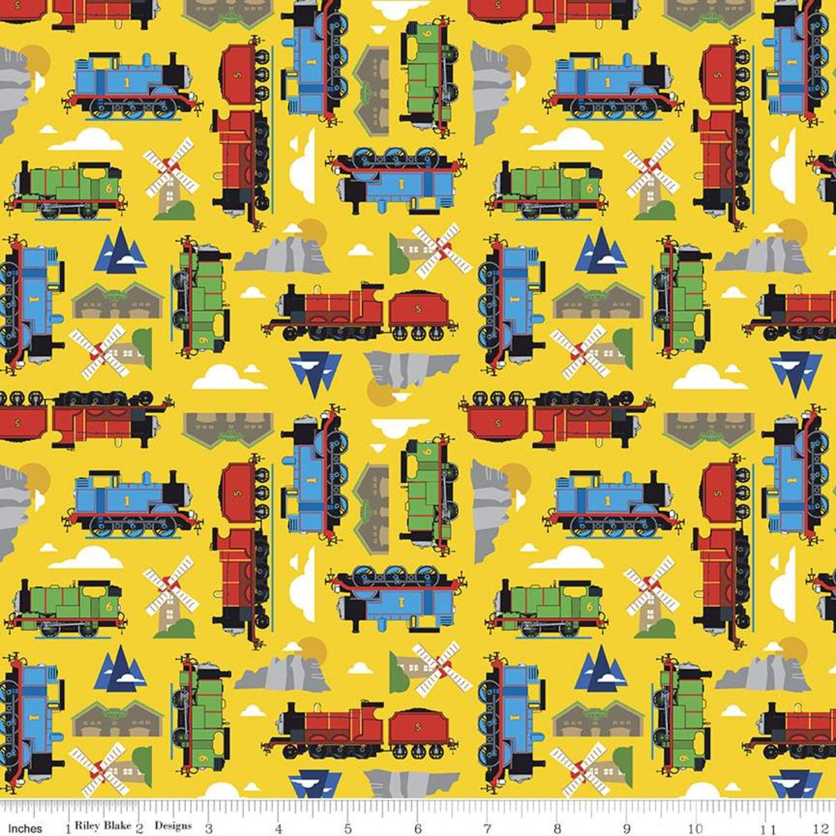 C11002-YELLOW - Riley Blake Thomas and Friends - All Aboard Sodor - Yellow