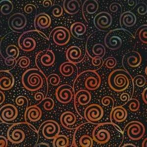 CD-3-6811 - Mirah Batiks Candied Berry - Black Tiger
