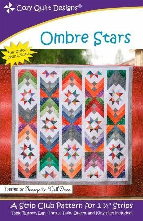 CQD01230 - Ombre Stars Pattern by Cozy Quilt Designs