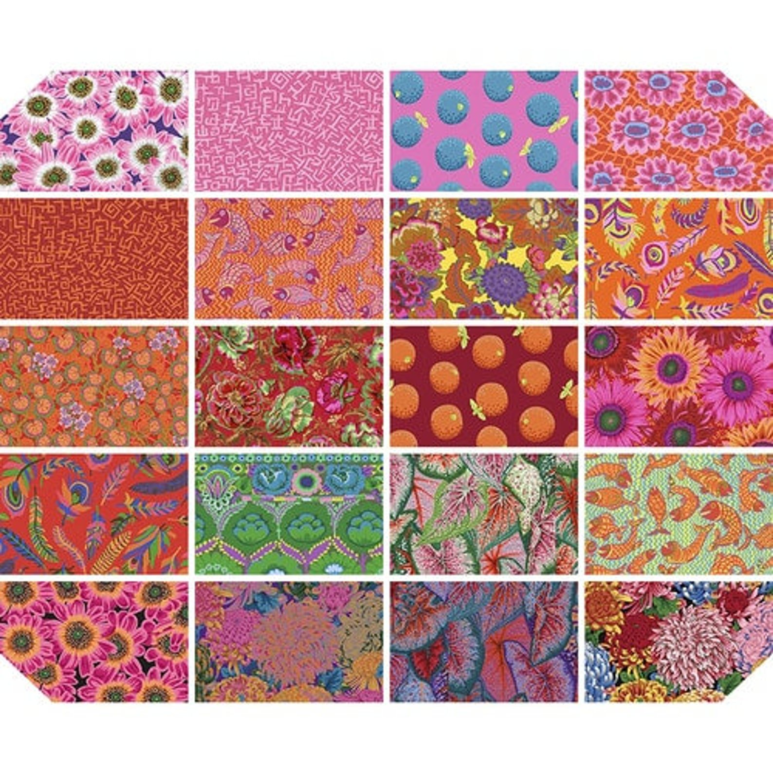 Kaffe Collective 10 Charm Squares - August 2021 - Bright