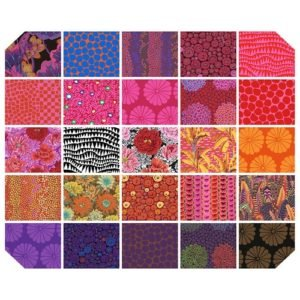Kaffe Collective 5 Charm Squares, Feb. 2021 - Hot