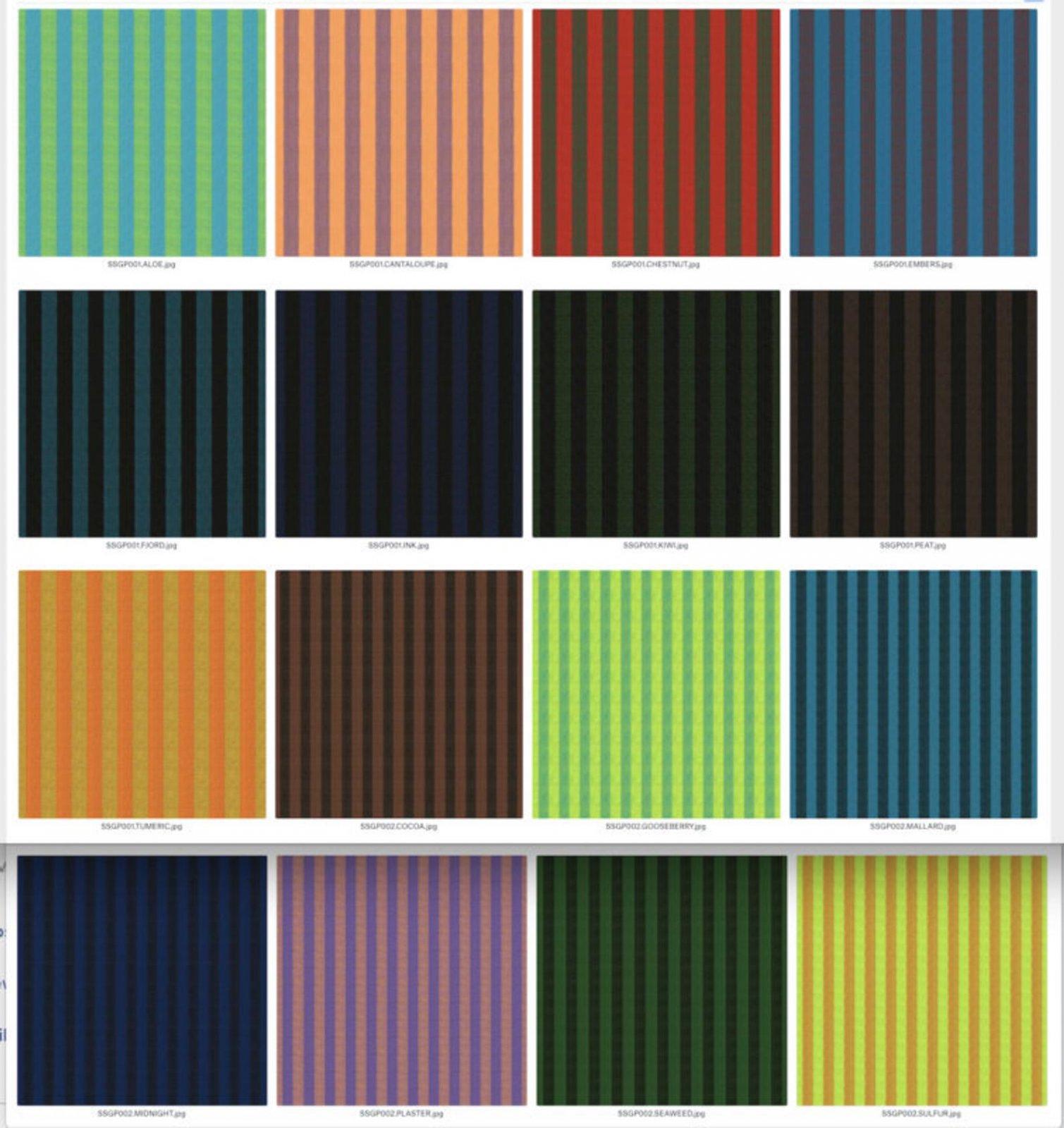 FB4DSGP.STRIPE Kaffe Fassett Shot Stripe Cottons (20) 6 strips
