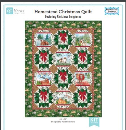 Quilting Treasures Homestead  Christmas Quilt Kit