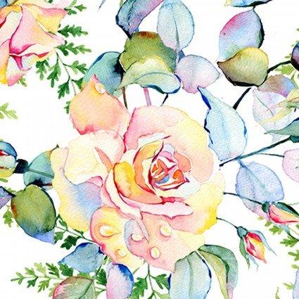 IBFPAT2PAT-1 - In the Beginning Patricia Large Roses - Soft Multi