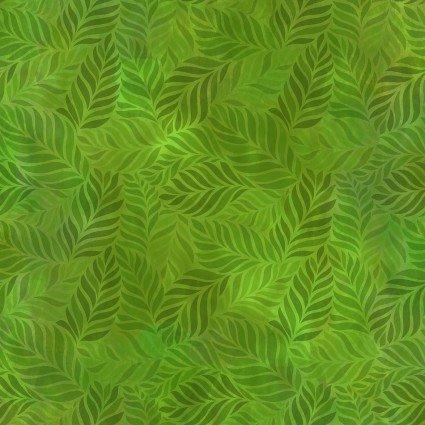 IBFRAJ10RJ-1 - In the Beginning Rainbow of Jewels Leaves - Green