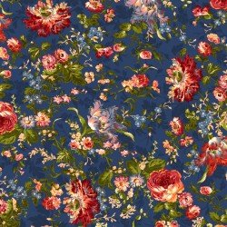 9870M-N Maywood Belle Epoque Navy Bold Floral