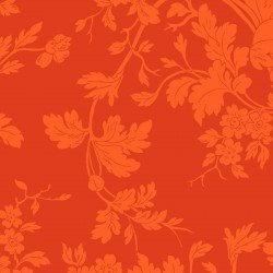 9875M-O Maywood Belle Epoque Orange Floral Damask