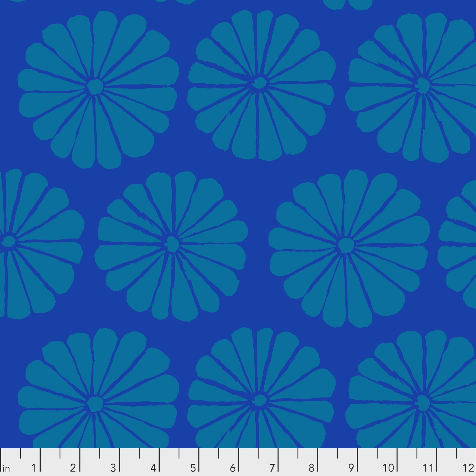 PWGP183.BLUE - Damask Flower