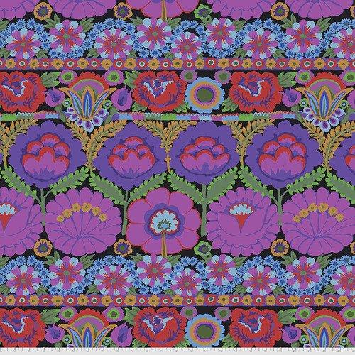 PWGP185.PURPLE - Embroidered Flower - Purple