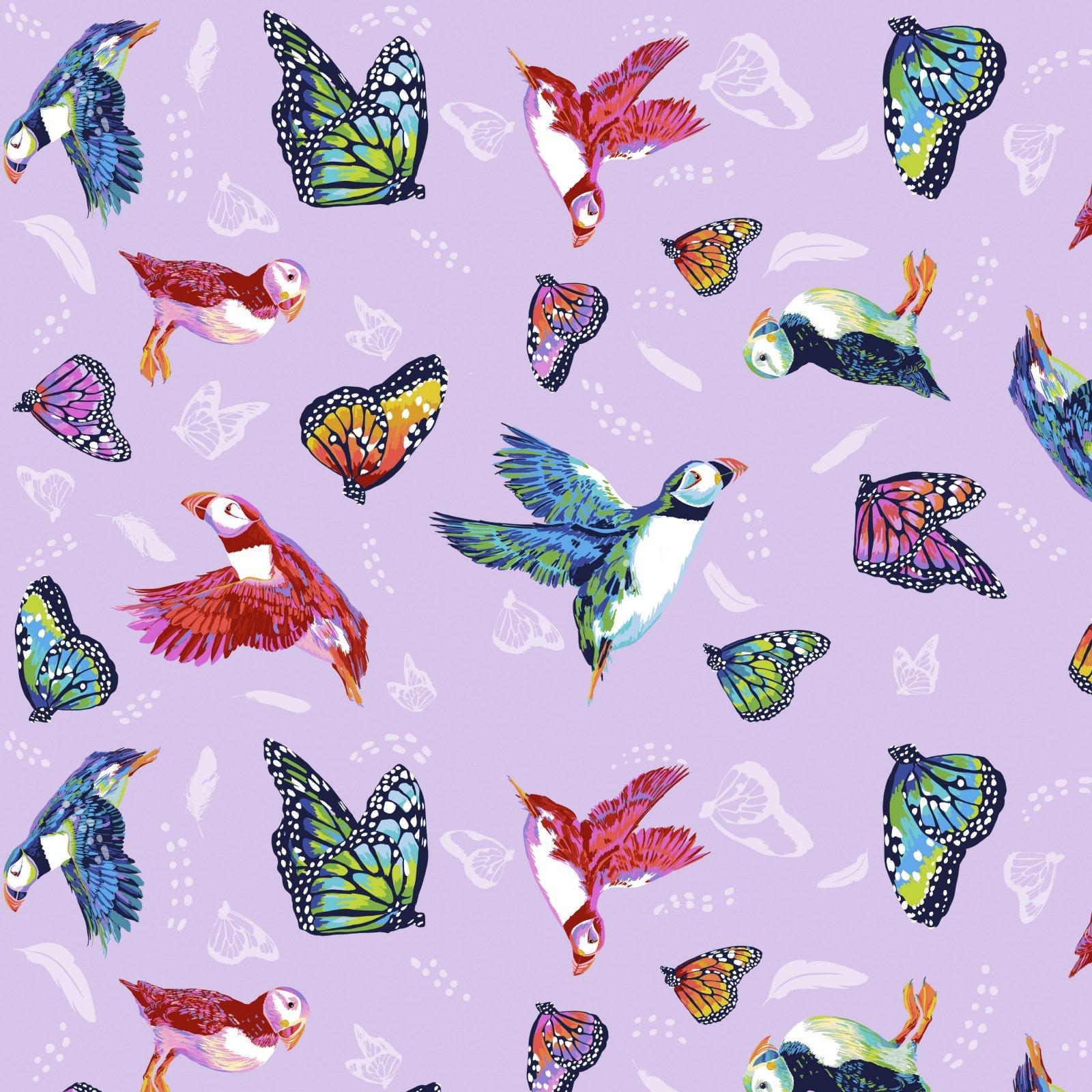 PWLT017.LAVENDER - Free Spirit Migration Friends in Flight - Lavender