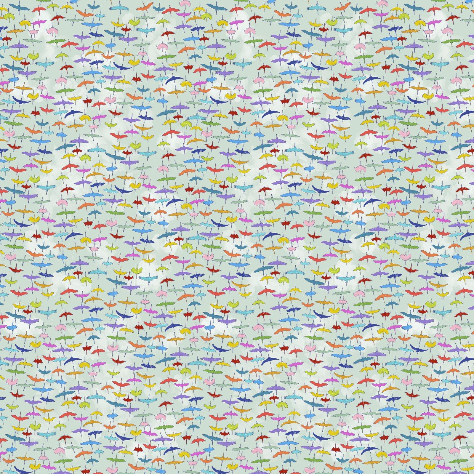 PWLT021.AQUA - Free Spirit Migration Siberian Cranes - Aqua