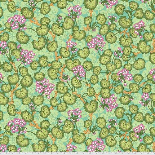 PWPJ110.GREEN - Climbing Geraniums - Green