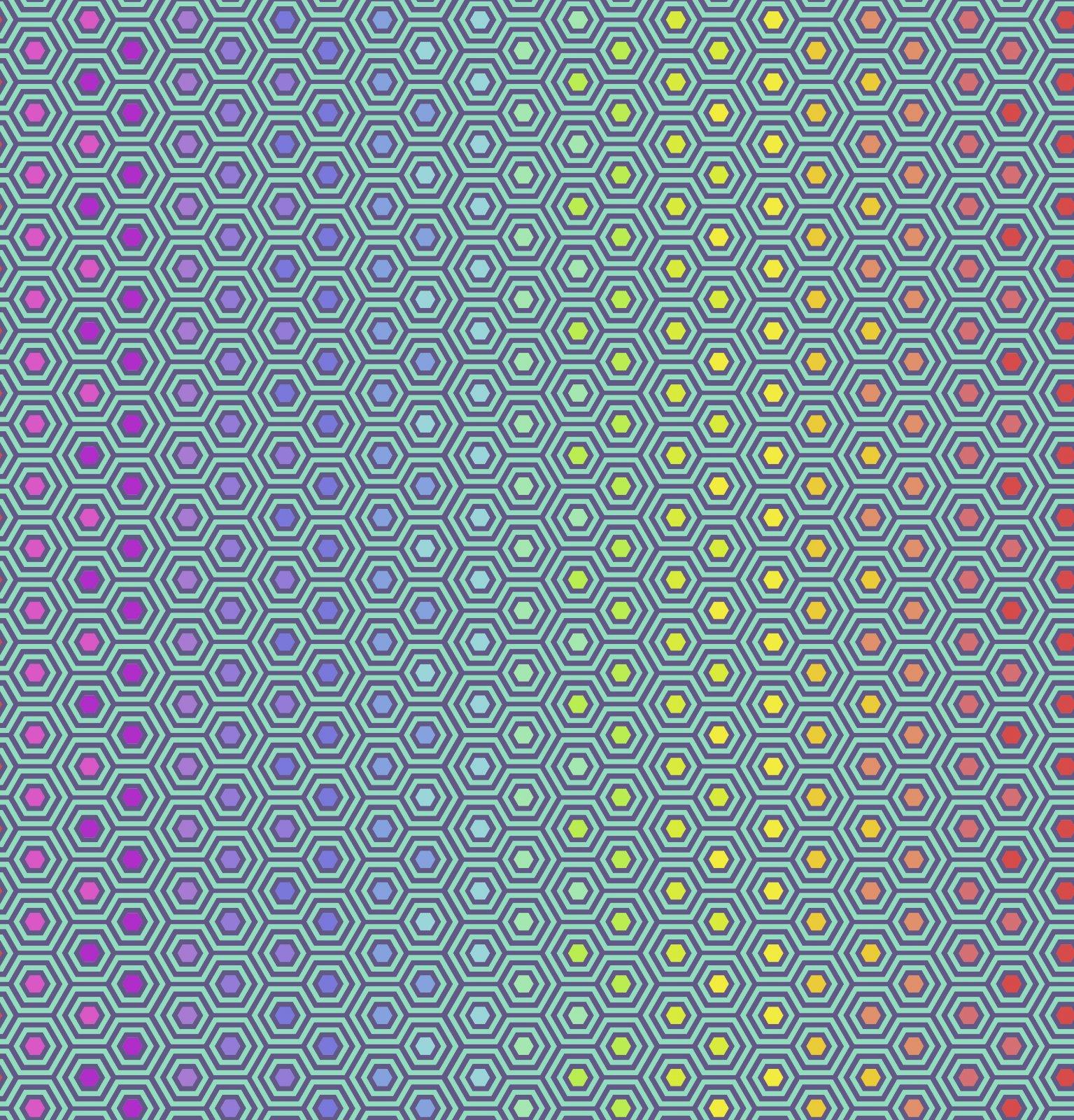 PWTP151.PEACOCK - Hexy Rainbow - Peacock