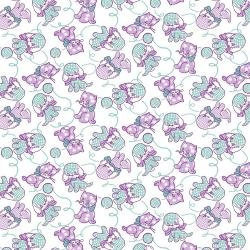 RJ2501-LA1 RJR EVERYTHING BUT THE KITCHEN SINK XV - FURRY CRITTERS - LAVENDER