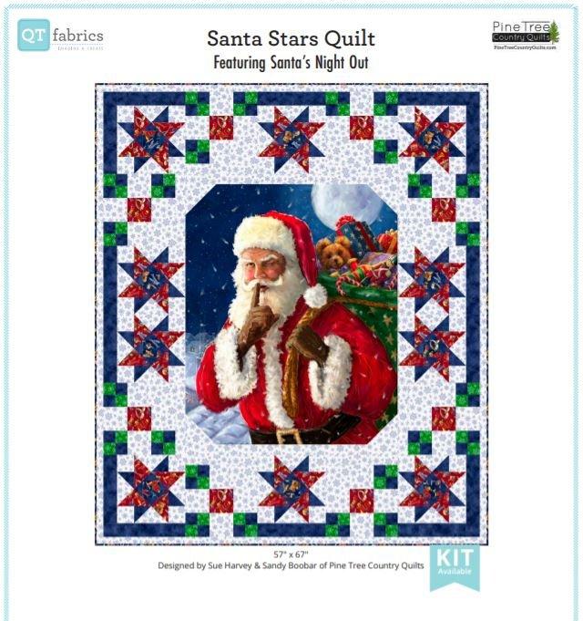 Quilting Treasures Santa Stars Quilt Kit