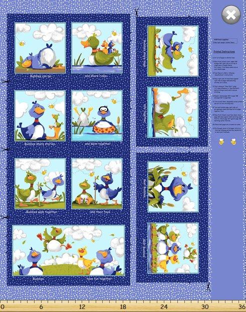 SB20336-780 - Clothworks Bill & Bob 36 Book Panel