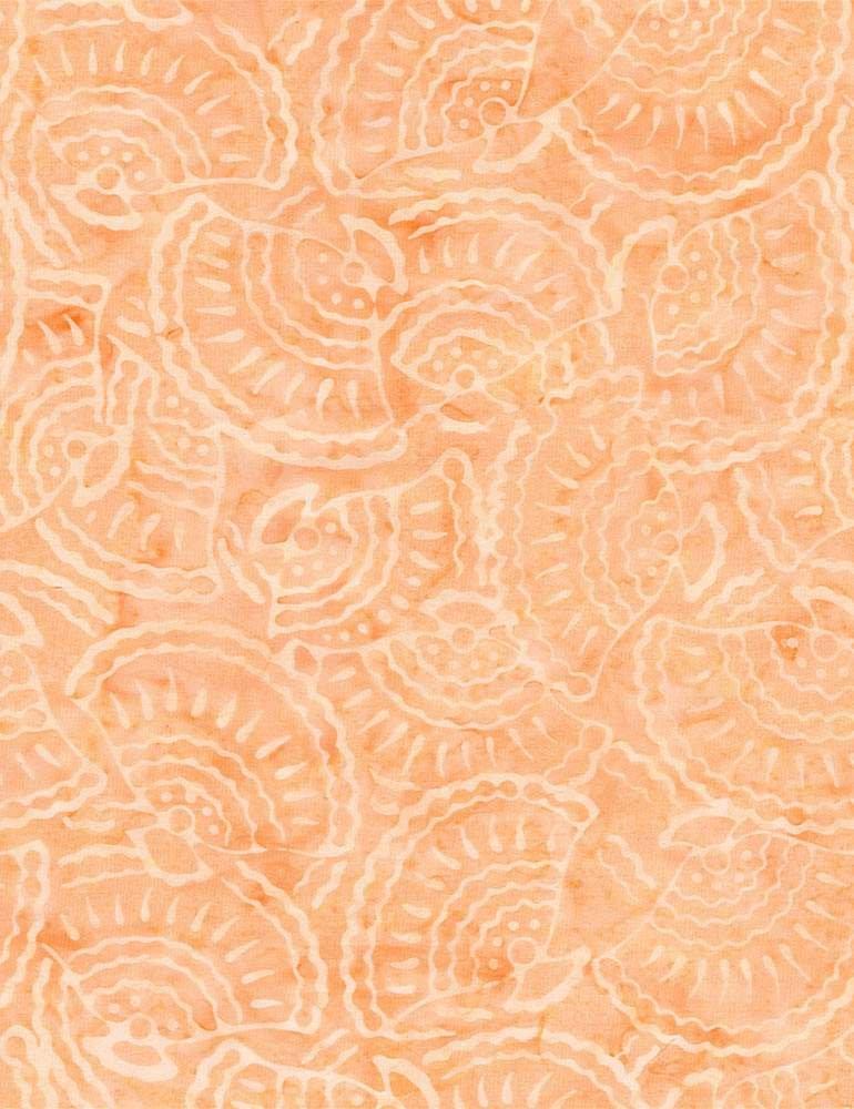 B6647-Peach - Timeless Treasures Batik Seashell - Peach