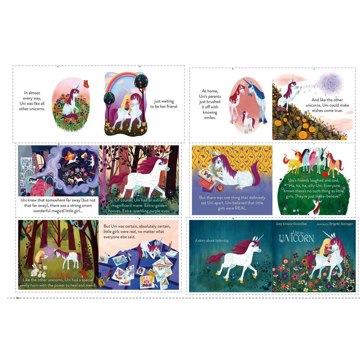 P9985-PANEL Uni the Unicorn Soft Book Panel from Riley Blake