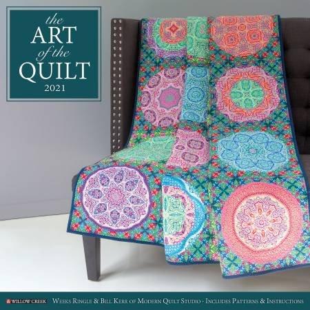 WCP10525 - Art of the Quilt 2021 Wall Calendar