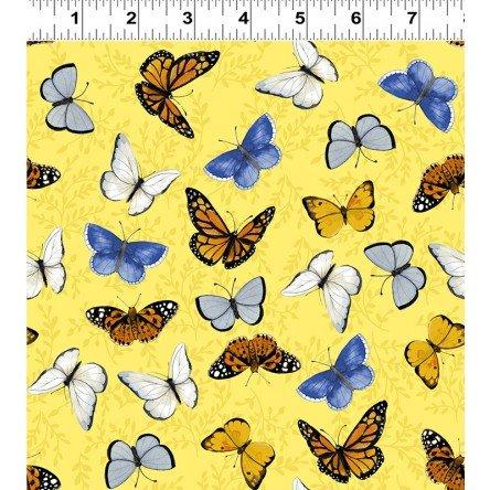 Y3029-9 Clothworks Sunny Fields Butterflies