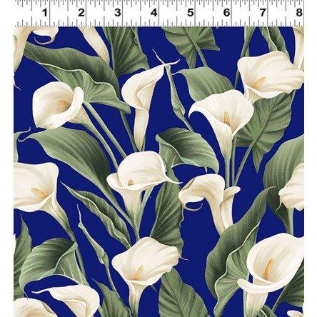 Y3131-92 Clothworks Colorido Calla Lily - Blue