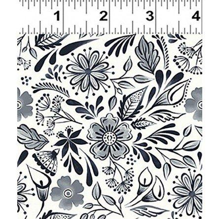 Y3132-3 Clothworks Colorido Mexican Tile - White/Black
